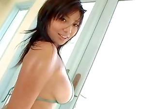 hot asian gal in a bikini
