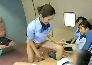 oriental stewardess banging the captain